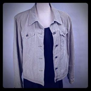 Light khaki corduroy jacket Gap size large.